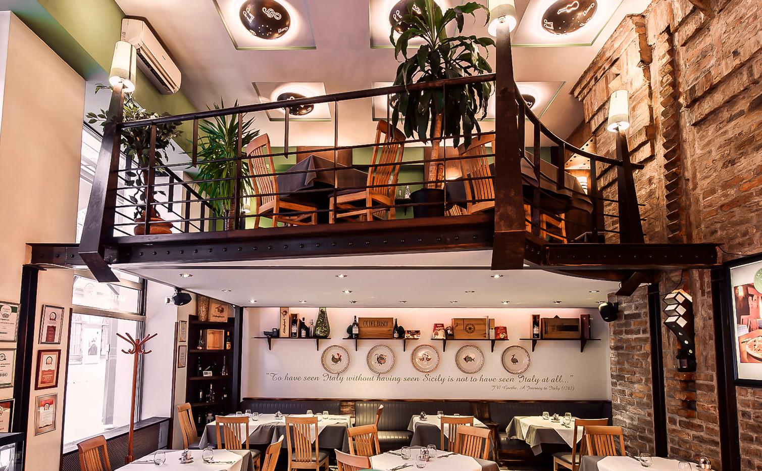 קופולה - מסעדה איטלקית בבודפשט