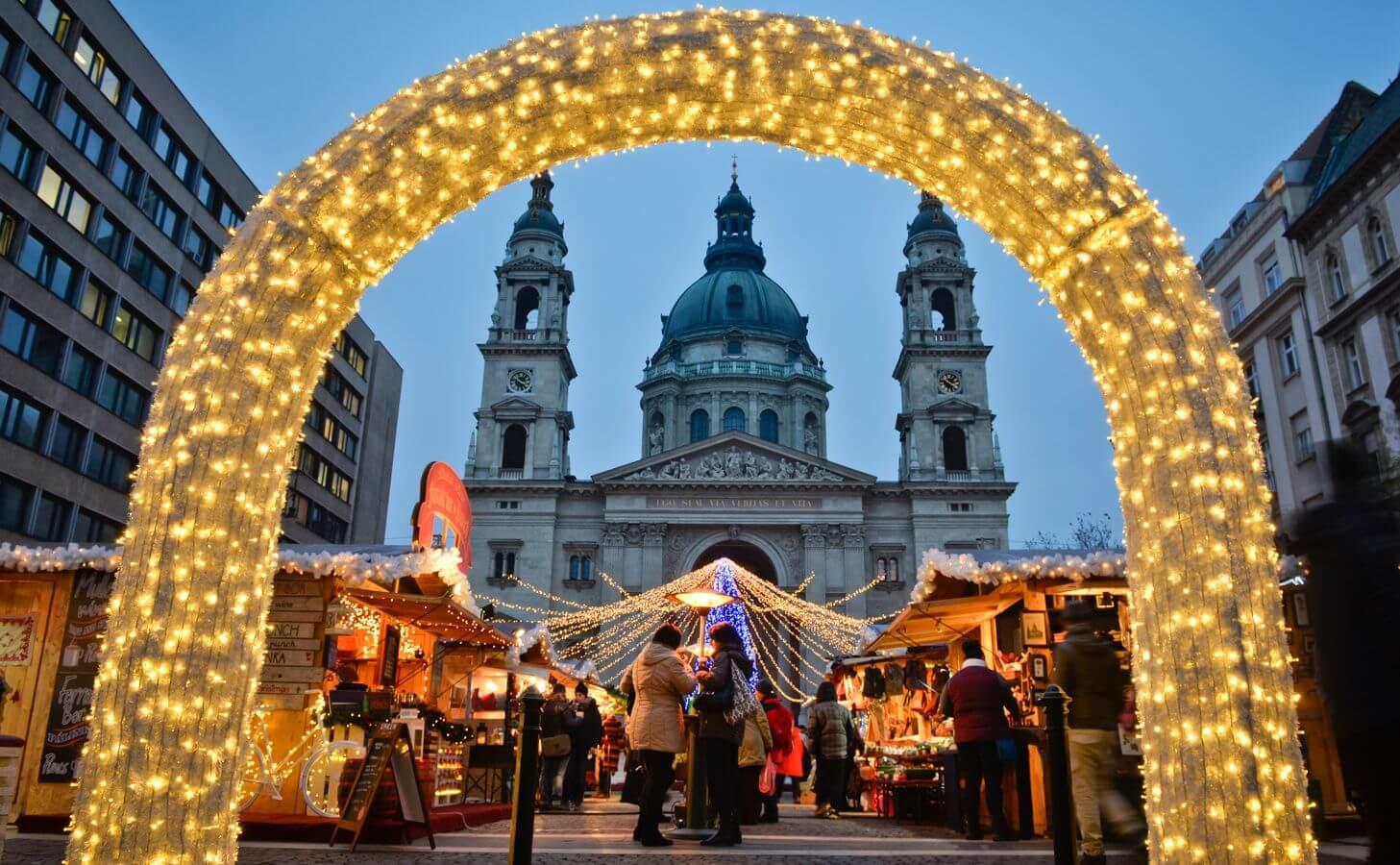 בודפשט בחורף בדצמבר Budapest in winter and december