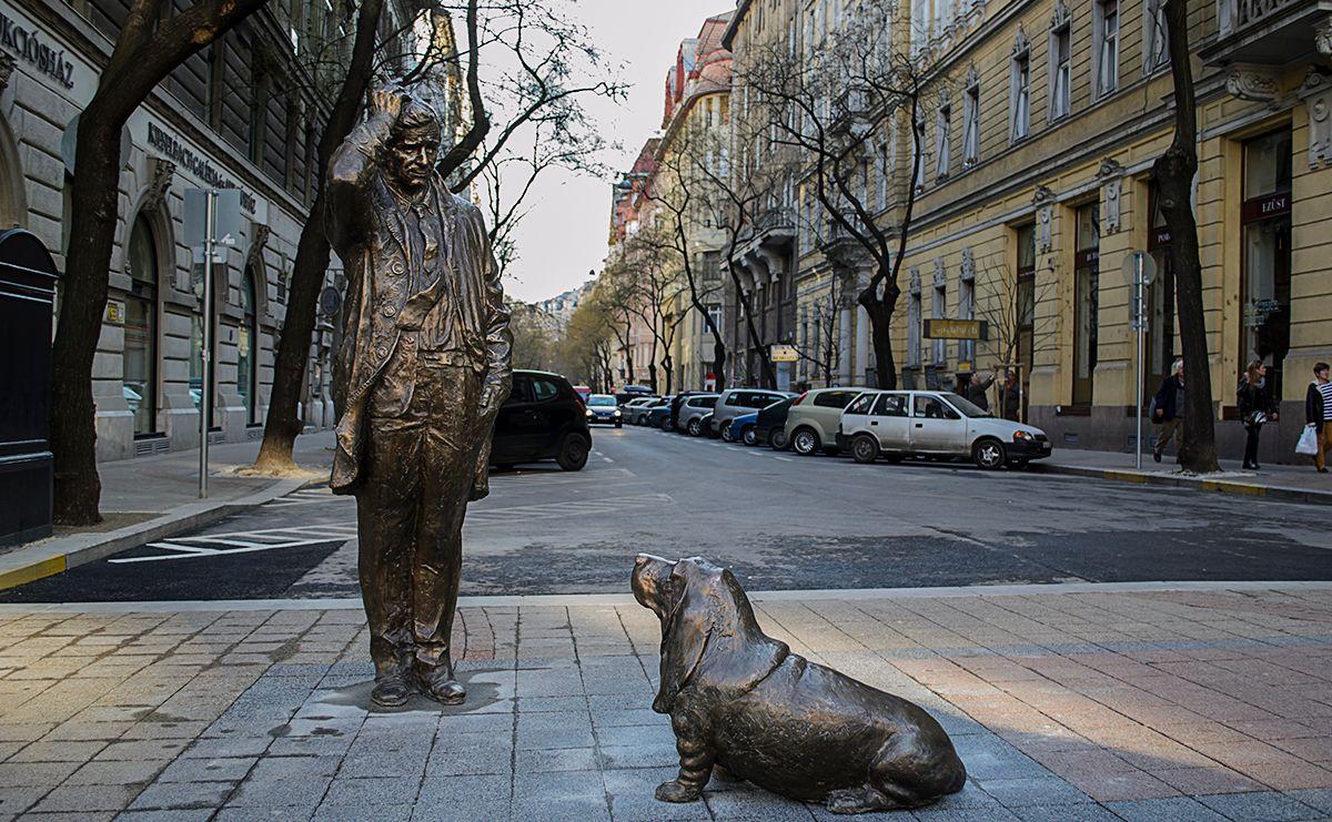 חנויות עתיקות וגלריות רחוב פאלק מיקשה בבודפשט