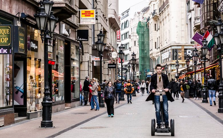 רחוב ואצי אוצה בודפשט הונגריה