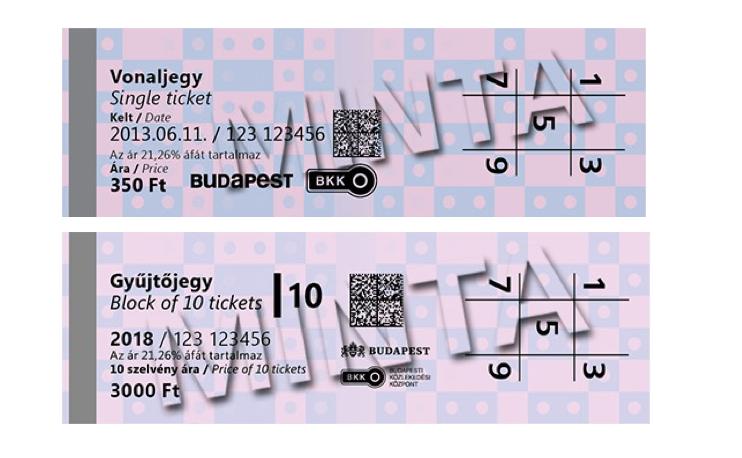 תחבורה ציבורית בבודפשט סוגי כרטיסים חד פעמיים בודדים
