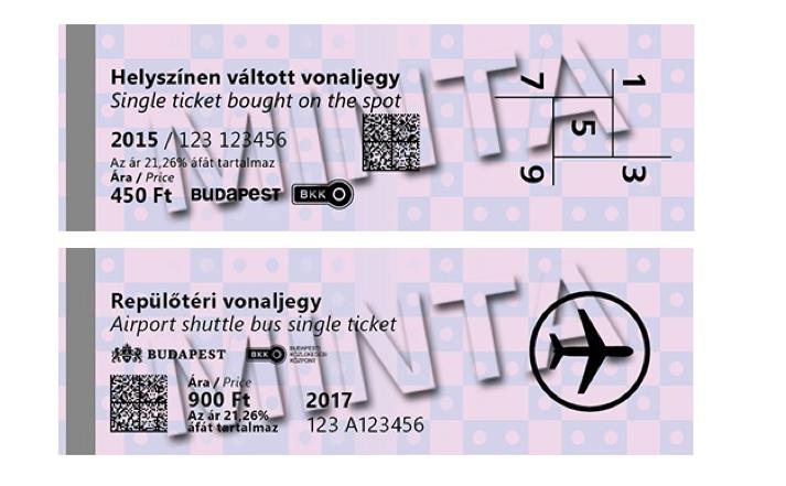 תחבורה ציבורית בבודפשט סוגי כרטיסים חד פעמיים
