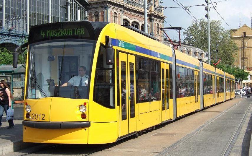 תחבורה ציבורית בבודפשט רכבת חשמלית צהובה