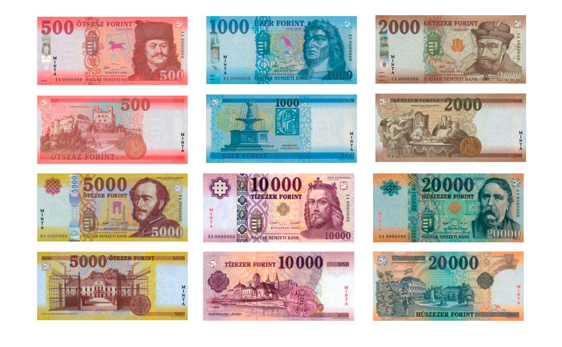 Hungarian Forint Bank Notes - שטרות חדשים פורינט הונגרי המרת כסף בבודפשט