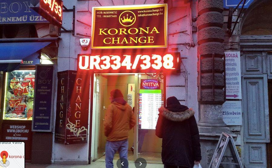 Korona Change Budapest Hungary המרת כספים בבודפשט הונגריה צ'יינג' קורונה