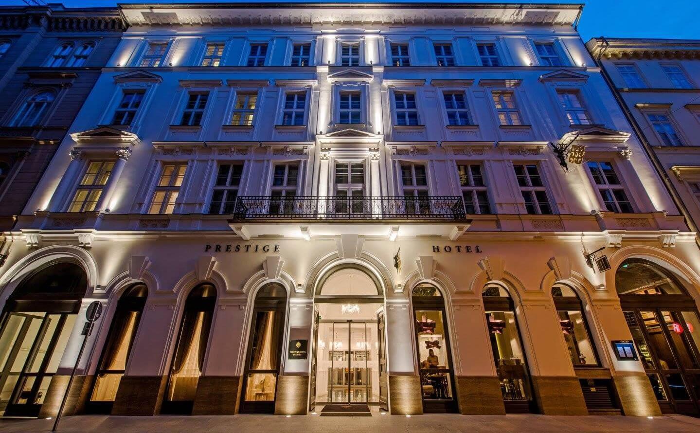 Prestige Hotel Budapest בתי מלון מרכזיים בבודפשט הונגריה מלון פרסטיז' 4 כוכבים