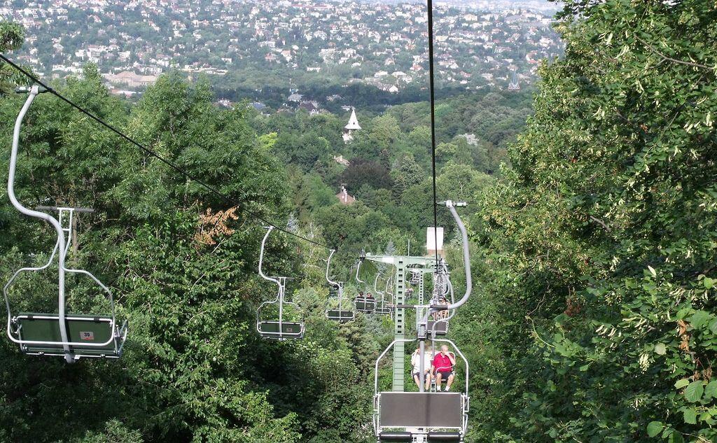 מזג אוויר במאי בבודפשט - רכבל הכסאות על גבעת יאנוש